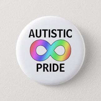 Autistic pride 6 cm round badge