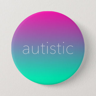 Autistic Pride - Magenta and Green Gradient 7.5 Cm Round Badge