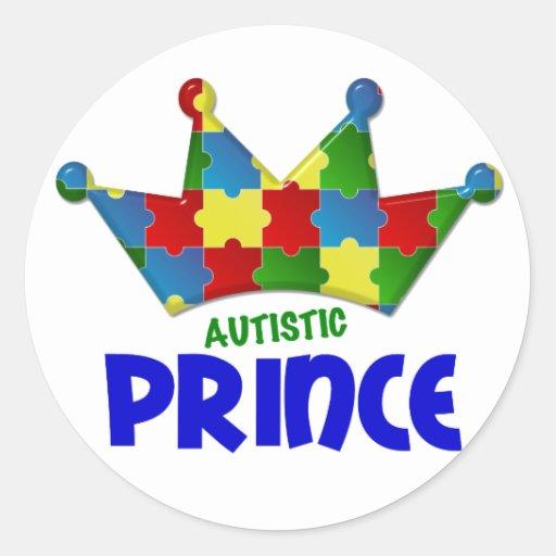 Autistic Prince 1 AUTISM Round Sticker
