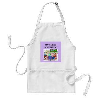 autistic son and mother aprons