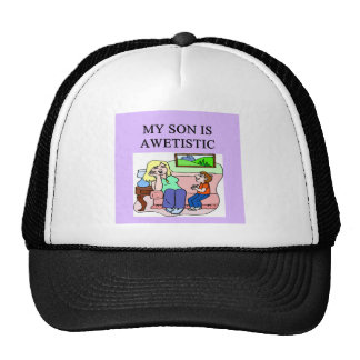 autistic son and mother hats