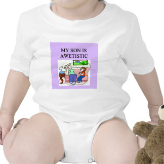 autistic son and mother baby bodysuits