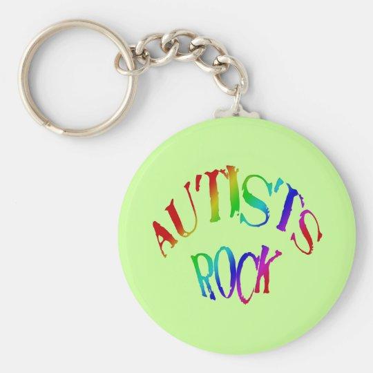 Autists Rock Keychain