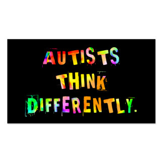 Autists Think Differently Activist Cards Business Cards