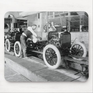 Auto Assembly Line 1920s Mousepad