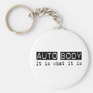 Auto Body It Is Basic Round Button Key Ring