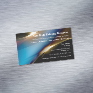 Auto Body Painting | Modern Professional Magnetic Business Cards
