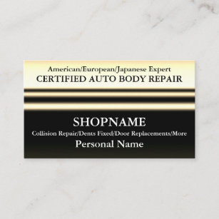 Auto body repair business cards zazzle uk auto body shop business card reheart Image collections