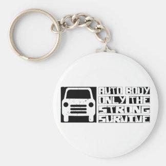 Auto Body Survive Basic Round Button Key Ring