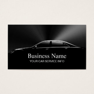 Auto Car Automotive Professional Black Metal Business Card