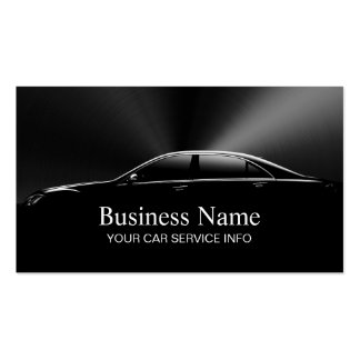 Auto Car Automotive Professional Black Metal Pack Of Standard Business Cards