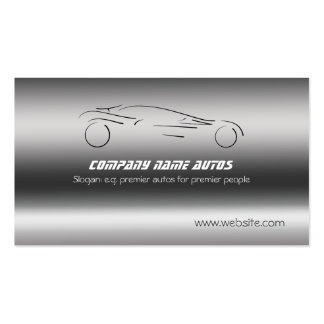Auto Car on Brushed Steel - Sportscar template Pack Of Standard Business Cards