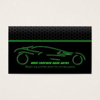 Auto Car on Metallic - Green line Sportscar Business Card