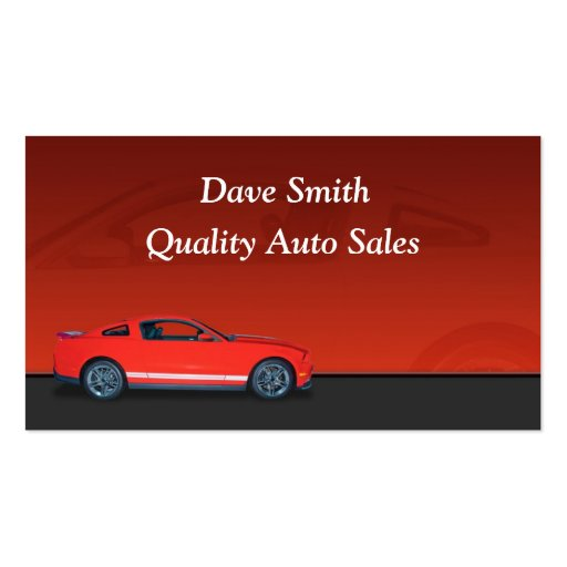 Car dealer gifts t shirts art posters other gift for Auto sales business cards
