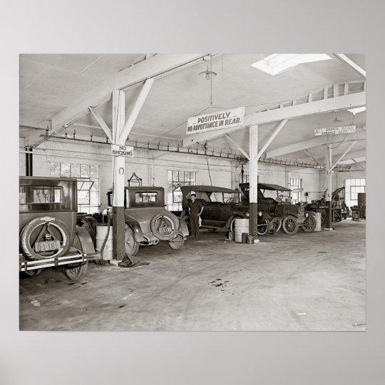 Auto Dealer Repair Shop, 1926. Vintage Photo Poster