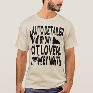 Auto Detailer Cat Lover T-Shirt