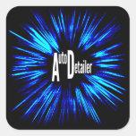 Auto Detailer Star Explosion Square Sticker