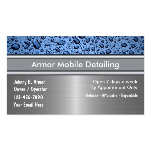 car detailing business cards