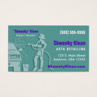 Auto Detailing / Car Wash Business Card