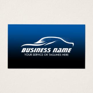Auto Detailing Cool Car Shape Blue Automotive Business Card