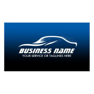 Auto Detailing Cool Car Shape Blue Automotive Pack Of Standard Business Cards