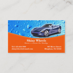Auto Detailing Business Cards Zazzle Uk