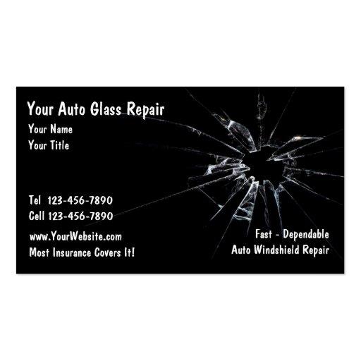 Auto Glass Repair Business Card