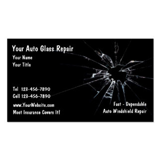 Auto Glass Repair Pack Of Standard Business Cards