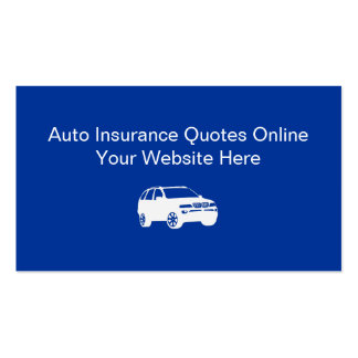 Auto Insurance Business Cards