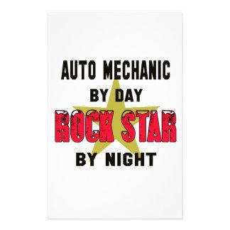 Auto mechanic by Day rockstar by night Stationery Design