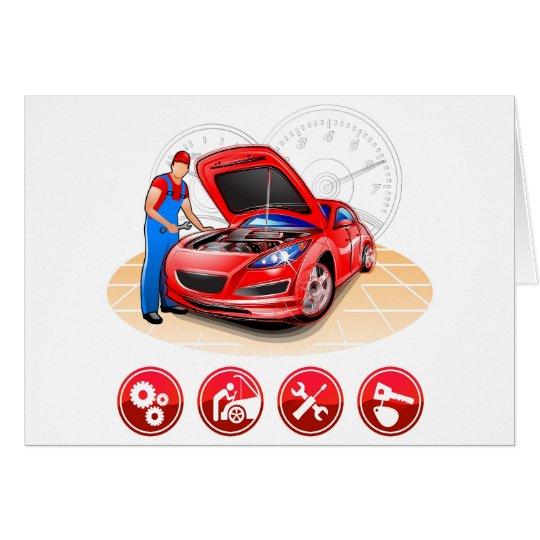 Auto mechanic card