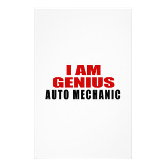 AUTO MECHANIC DESIGNS PERSONALIZED STATIONERY