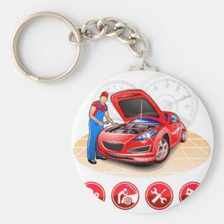Auto mechanic key ring