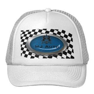 Auto Mechanic Racing Checkers Logo Hat