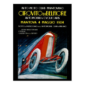 Auto Moto Club Mantovano Retro 1924 Postcard
