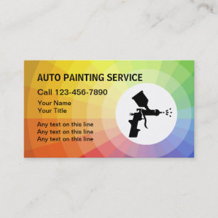 Spray paint business cards zazzle uk auto painting business cards colourmoves
