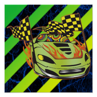 Auto Racer Print and Poster