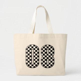 auto racing 08 number jumbo tote bag