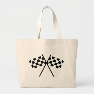 auto racing checker flag canvas bag