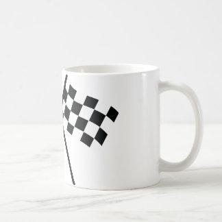auto racing checker flag coffee mugs