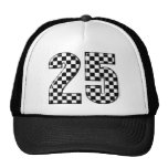 auto racing checkers number 25