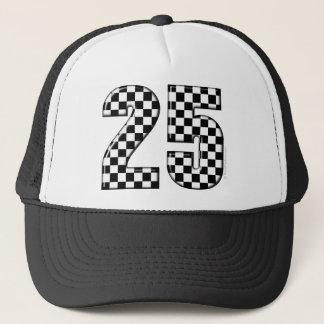 auto racing checkers number 25 trucker hat