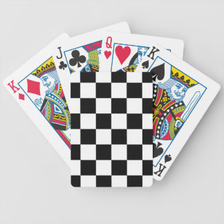 Auto Racing Chequered  Checkered Flag Bicycle Playing Cards