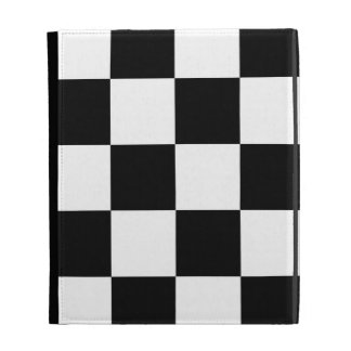 Auto Racing Chequered Checkered Flag iPad Folio Case