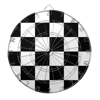 Auto Racing Chequered  Checkered Flag Dartboard With Darts