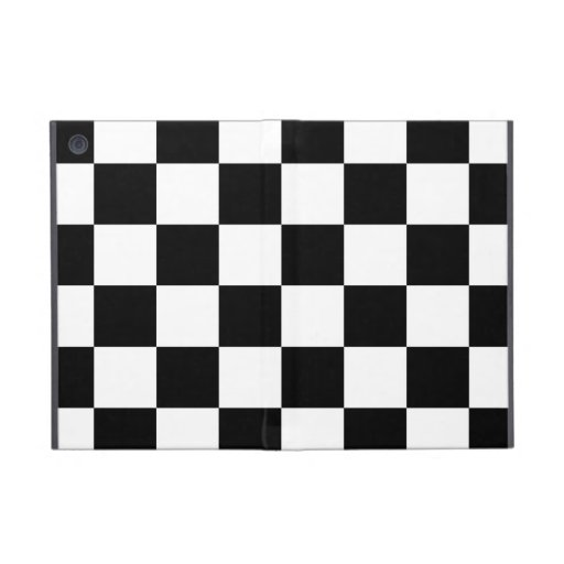 Auto Racing Chequered  Checkered Flag Covers For iPad Mini