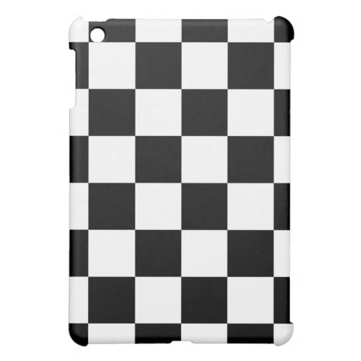 Auto Racing Chequered Checkered Flag Case For The iPad Mini
