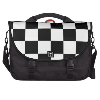 Auto Racing Chequered Checkered Flag Commuter Bags