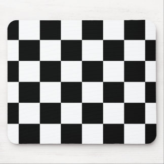 Auto Racing Chequered  Checkered Flag Mouse Mat