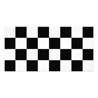 Auto Racing Chequered  Checkered Flag Photo Card Template